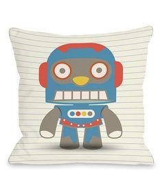 Love this Stanley's Robot Down Alternative Throw Pillow by OneBellaCasa on #zulily! #zulilyfinds