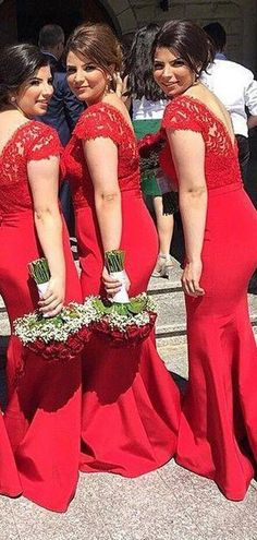 Mermaid Cap Sleeves Lace Red Cheap Bridesmaid Dresses Online, WG831 – LoverBridal Mexican Bridesmaid Dresses, Cheap Bridesmaid Dresses Online, Red Bridesmaids, Mermaid Bridesmaid Dresses, Cheap Homecoming Dresses, Mermaid Dresses, Flower Girl Dresses, Wedding Dresses, Dress Backs