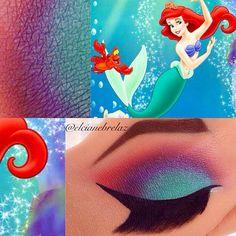 Halloween Make-up Sketchy Disney Character Makeups Article Phys Disney Character Makeup, Disney Eye Makeup, Ariel Makeup, Disney Inspired Makeup, Disney Princess Makeup, Eye Makeup Art, Fairy Makeup, Disney Makeup Tutorial, Mermaid Makeup Tutorial