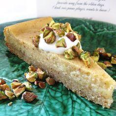 Flourless Persian cake   Almond flour, sugar, brown sugar, butter, eggs, yogurt, pistachios