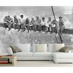 """Pranzo Mural New York 'in cima a una """"scyscraper City Skyline KT305 Dimensione: 420x270cm wallpaper Big Apple grattacieli America del Costruzione USA: Amazon.de: Kitchen & Home"""