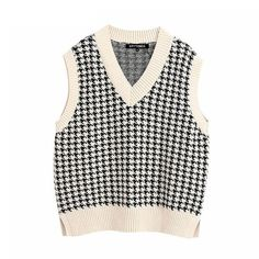 Chaleco Casual, Knit Fashion, Fashion Outfits, Fashion Bags, Fashion Fashion, Fashion Women, Fashion Shoes, Black And White Outfit, White Plaid