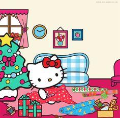 Hello Kitty Vans, Hello Kitty Clothes, Hello Kitty Items, Hello Kitty Christmas, Merry Little Christmas, Christmas Cats, Christmas Images, Christmas Morning, Winter Christmas