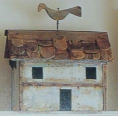 Country bird house w/ folky weathervane