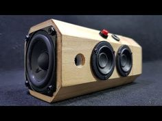 Building Bluetooth Speaker with Wooden Tea Box Ez Wood Project Designer – Just Use A Pencil Bluetooth Speaker Box, Bluetooth Gadgets, Music Speakers, Diy Speakers, Homemade Speakers, Subwoofer Box Design, Speaker Box Design, Radios, Diy Boombox