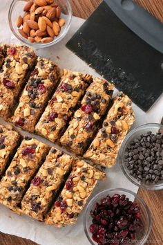 Peanut Butter Chocolate Trail Mix Granola Bars