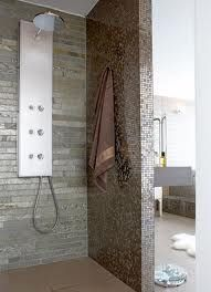 Master Bathroom with this.... Shower, but a closed glass with built in bench.