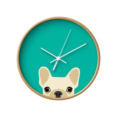 I would enjoy having this Frenchie wall clock for the Gallery Wall. Dot & Bo, $36.99.