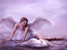 Dying swan