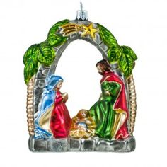 nativity - Christmas glass ornament