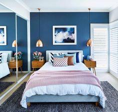 Bedroom, home decor bedroom, home decor colors, home design decor Home Decor Colors, Home Design Decor, Interior Colors, Bedroom Color Schemes, Bedroom Colors, Home Decor Bedroom, Interior Design Living Room, Bedroom Ideas, Blue Bedroom