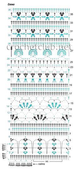 Ажурный жакет - Вязание Крючком. Блог Настика. Схемы, узоры, уроки бесплатно