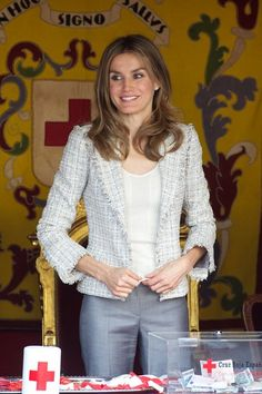 Princess Letizia - Spanish Royals Attend Red Cross Fundraising Day 2012