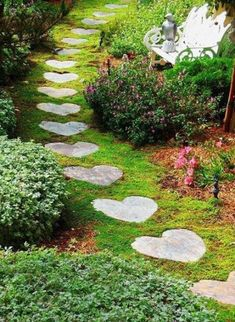 54 Best DIY Garden Path Designs You Can Bulid To Complete Your Gardens Chairs and tables arranged in the garden or the yard serve as a base from which to view its many […] Small Garden Path Ideas, Front Garden Path, Brick Garden, Gravel Garden, Easy Garden, Garden Paths, Garden Art, Cheap Garden Ideas, Heart In Nature