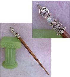 Silver Steampunk Gears & Cogs Beaded Wooden Hair Stick   http://cgi.ebay.com/ws/eBayISAPI.dll?ViewItem=151004072692