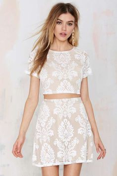 Mariana Embroidered Skirt #croptop #cropoutfit #matchingoutfit