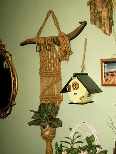antique hames Handcrafted MACRAME wall hanger n by dagutzyone, $55.00