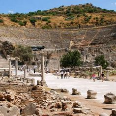 Ephesus  Located within what was once the estuary of the River Kaystros, Ephesus comprises successive Hellenistic and Roman settlements founded on new locations, which followed the coastline as it retreated westward...