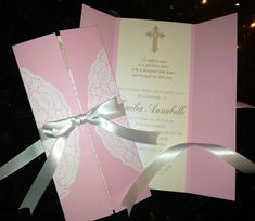 My daughters Christening invitations - home made