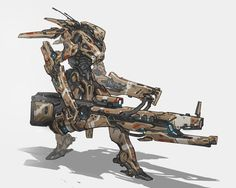 Desert Infantry Mech ★| CHARACTER DESIGN REFERENCES | キャラクターデザイン • Find more artworks at &