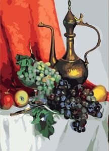 Oil, grapes and apples - DIY Paint By Numbers Kits for Adults