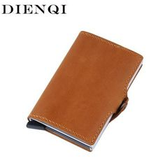 Good Weduoduo Rfid Card Holder Men Wallets Money Bag Male Vintage Credit Card Holder 2019 Small Leather Smart Wallets Mini Wallets Large Assortment Card & Id Holders Coin Purses & Holders