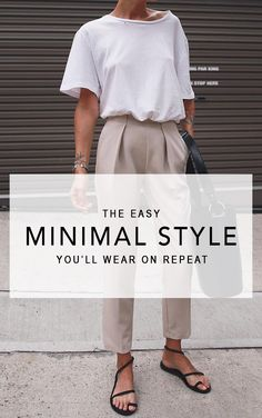 The Easy Minimal Style You'll Wear On Repeat, Spring Outfits, This style influencer captivated us with a luxurious minimal style where the play between structured and flowy materials gives us an incredibly luxe f. Comfy Work Outfit, Casual Work Outfit Summer, Simple Summer Outfits, Fall Outfits For Work, Summer Fashion Outfits, Work Casual, Easy Outfits, Spring Outfits, Casual Outfits
