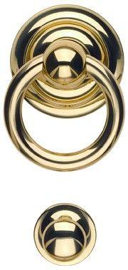 "Omnia Door Knocker - Solid Brass | 3 available sizes, purchased 76/80 | 3 5/8"" cc., 6 1/2"" oa. 2 1/4"" proj. $90 | custom antique nickel finish"