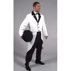 dguisement queue de pie blanche homme luxe cabaret danse ftes - Costume Queue De Pie Homme Mariage
