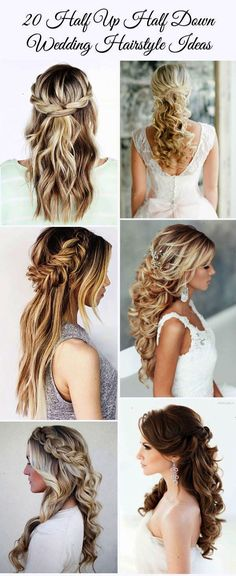 20 Awesome Half Up Half Down Wedding Hairstyle Ideas - From Elegant Wedding Invites | Glamour Shots