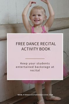 This fabulous recital activity book will entertain your students ages 2-12 backstage at your recital. We'll even show you how to easily customise the front page with your studio name and website. This book is just one of the many ways that you can go over and above your student's expectations and wow and delight them!