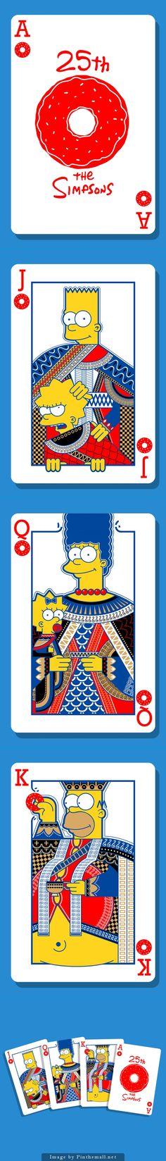 the Simpsons card family