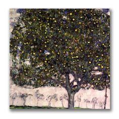 The Apple Tree by Gustav Klimt Painting Print on Canvas
