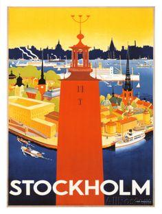 Stockholm Giclée-Druck von Donner bei AllPosters.de