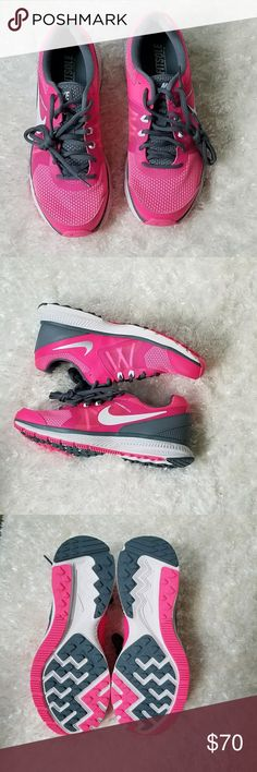 Brand New Nike Sneakers Great brand new nike running sneakers. Will include the box if possible. Lightweight and great for any activity. Pink & gray. Nike Shoes Athletic Shoes