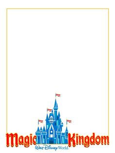 """Magic Kingdom - Project Life Disney Journal Card - Scrapbooking. ~~~~~~~~~ Size: 3x4"""" @ 300 dpi. This card is **Personal use only - NOT for sale/resale** Logos/clipart belong to Disney."""