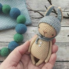 Crochet pattern for RABBIT /American crochet terms/ - crochet skill level: easy ______________________________________________________ - pdf-file / 16 pages; - english/russian language - size 13 cm or 20 cm, included ears (if using the same materials )