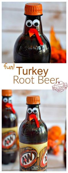 Fun Turkey Root Beer Thanksgiving Drink Cute Fun Food Craft for the Table is part of Cricut crafts Table - Fun Turkey Root Beer Thanksgiving Drink Cute Fun Food Craft for the Table fun for kids, teens and adults www kidfriendlythingstodo com Thanksgiving Dinner For Two, Thanksgiving Drinks, Thanksgiving Activities, Thanksgiving Appetizers, Thanksgiving Turkey, Thanksgiving Decorations, Decorating For Thanksgiving, Traditional Thanksgiving Dinner, Friends Thanksgiving