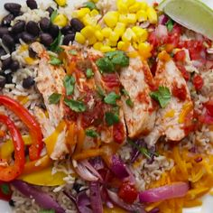17 Healthy Grain Bowls You Should Make For Dinner 2019 Weekday Meal-Prep Chicken Burrito Bowls The post 17 Healthy Grain Bowls You Should Make For Dinner 2019 appeared first on Lunch Diy. Healthy Grains, Healthy Snacks, Healthy Eating, Healthy Recipes, Keto Recipes, Summer Healthy Meals, Healthy Delicious Meals, Heathy Lunch Ideas, Healthy Burritos