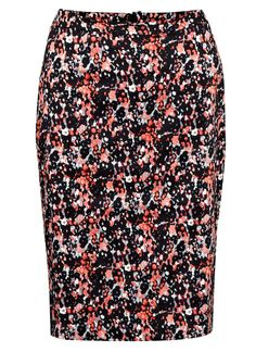 Forget me not print skirt