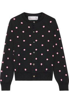 Comme des Garçons GIRL - Intarsia Wool-blend Cardigan - Black -