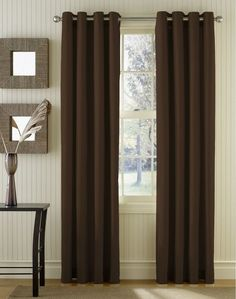 Sailcloth Cotton Canvas Grommet Top Curtain Panel  Long lengths price is10 Curtain Ideas For Living Room For Brilliant Look   Khicho com  . Living Room Curtain Styles. Home Design Ideas