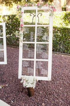 Here's a full view of the gorgeous window pane! #seatingchart {Michael Anthony Photography}