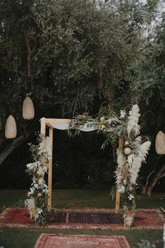 Pampas grass is the unexpected plant making its way into all kinds of weddings this year (beach, backyard, woods and more). Here, 27 photos full of pampas grass wedding decor inspo. Wedding Chuppah, Boho Wedding, Floral Wedding, Wedding Ceremony, Wedding Flowers, Dream Wedding, Wedding Day, Trendy Wedding, Wedding Receptions