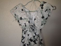 VTG 80's JESSICA MCCLINTOCK Garden Party Dress Full 50's Skirt OFF SHOULDER    #JessicaMcClintock #TeaDress #Cocktail