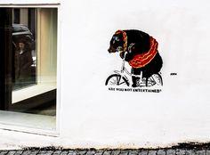 Work by Newton Are You Not Entertained, Urban Life, Bergen, Public Art, Street Photography, Street Art, Entertaining, Artwork, Home Decor