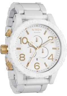 Nixon 51-30 Chrono All White/Gold