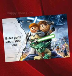 Lego Birthday Invitation, Lego Star Wars, Lego Movie, Lego Party, Lego Lord of the Rings, Party Invites, Lego Birthday Party Printable Ideas