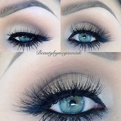 One of my fave looks, simple perfected neutral eye with a strong smoky liner and lots of lashes