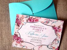 Professionally printed invitations with petal fold by CupidDesigns, $80.00